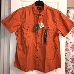 Bass Orange Button Down Shirt